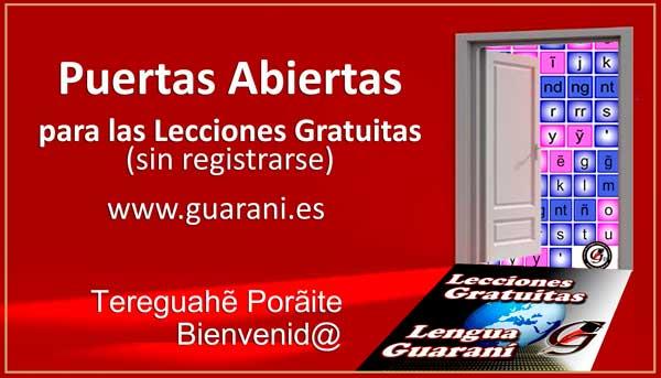Puertas abiertas Lecciones de Guaraní